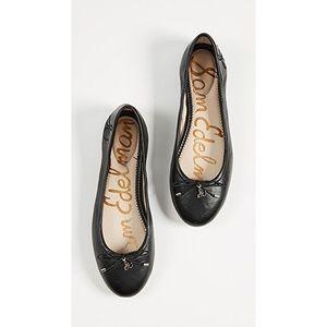 Sam Edelman black leather Felicia Ballet Flats